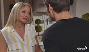 Sharon gives Adam news on Young and Restless