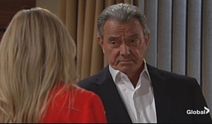 Sharon and Victor discuss Adam on Young and the Restless