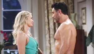 Shauna and Bill in the bedroom on Bold and Beautiful
