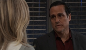 Sonny and Carly talk loss General Hospital