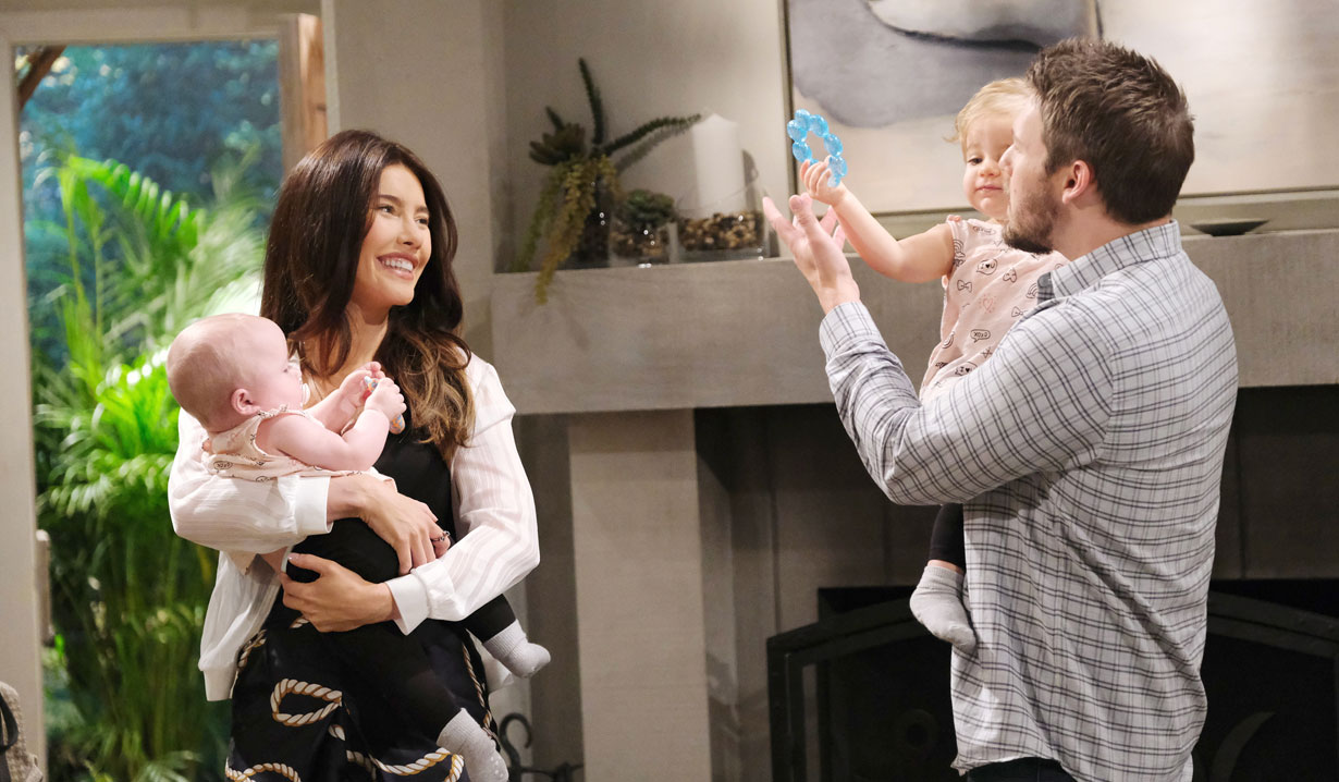 Liam Steffy and the girls on Bold and the Beautiful
