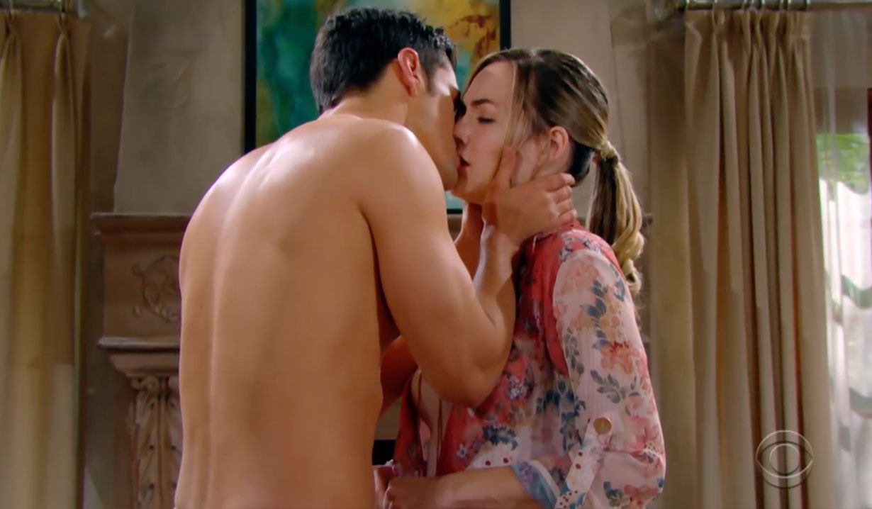 Thomas kisses Hope on The Bold and the Beautiful