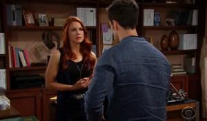 Thomas apologizes to Sally on Bold and Beautiful