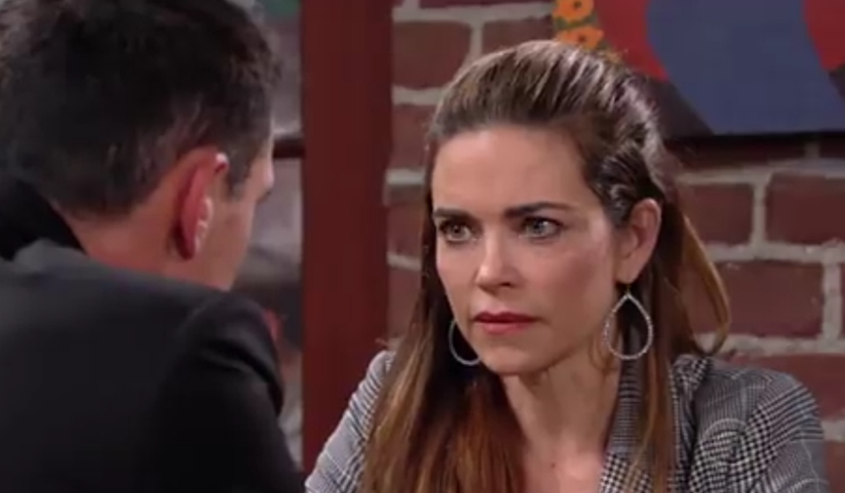 Victoria and Billy discuss Adam on Young and Restless
