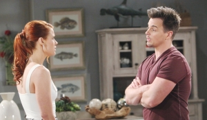 Wyatt confronts Sally on Bold and Beautiful