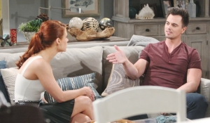 Wyatt questions Sally on Bold and Beautiful