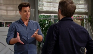 Wyatt tells Liam about Sally on Bold and Beautiful
