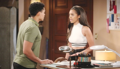 Xander and Zoe argue on Bold and Beautiful