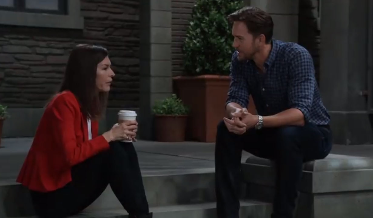 Anna has coffee with Peter on General Hospital