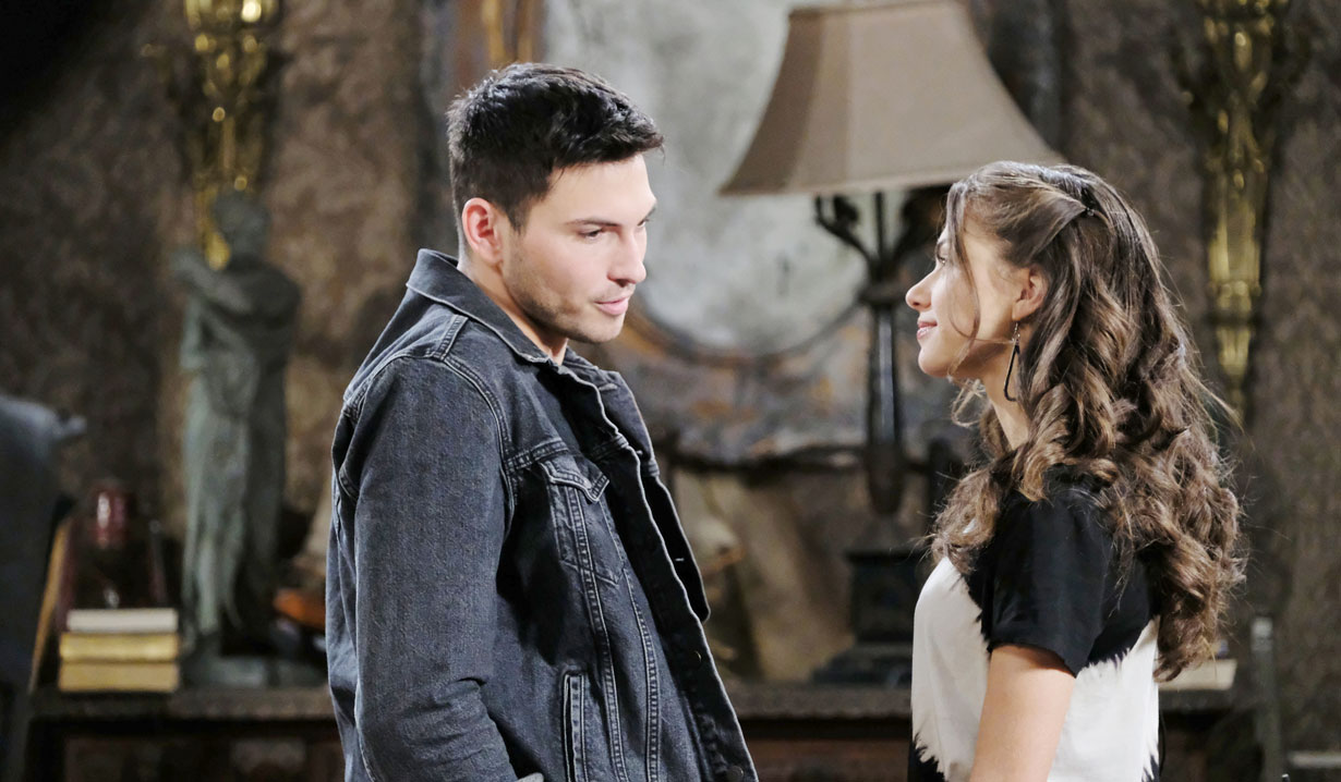 ben and ciara talk at his place on days of our lives