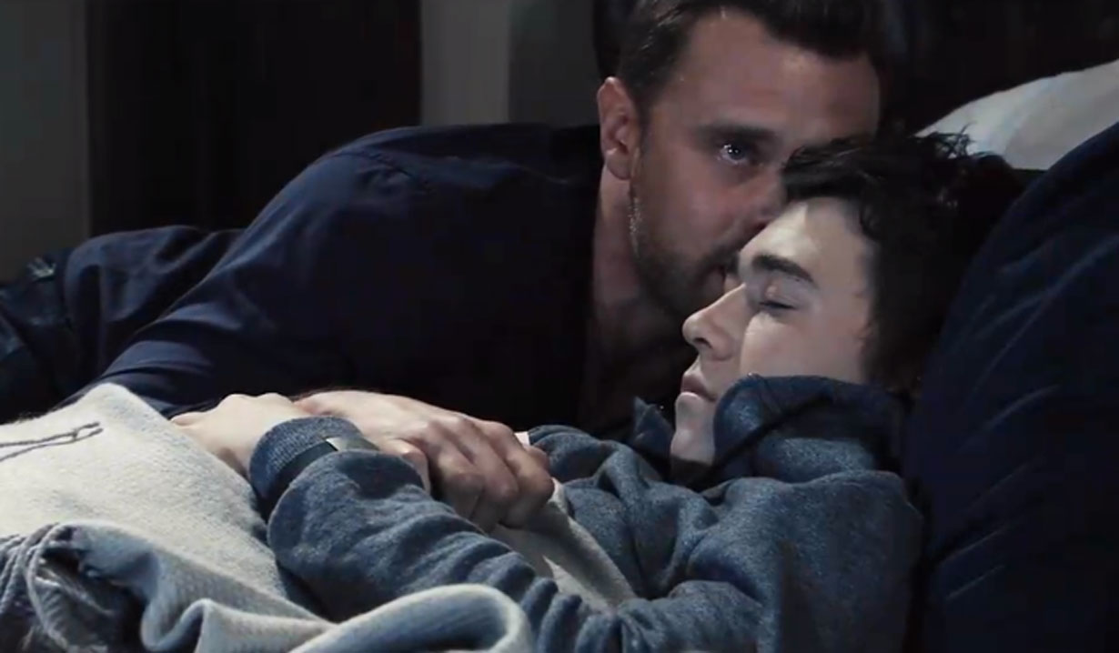 drew says goodbye to oscar on general hospital