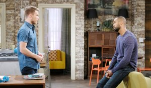eli and tripp talk at loft on days of our lives