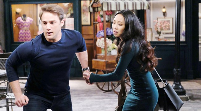 JJ and haley run from law on days of our lives