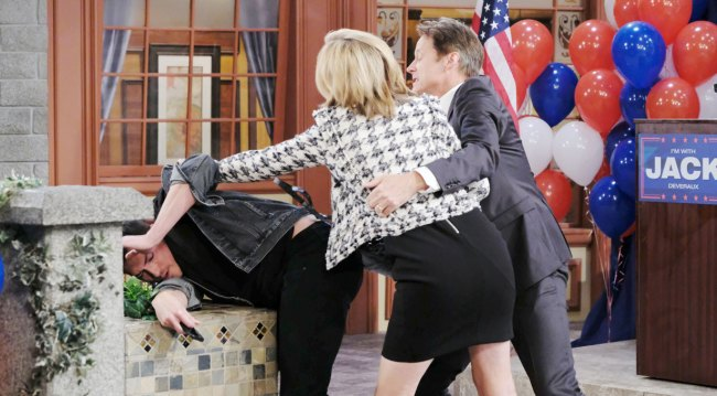 jack sees eve attack ben on days of our lives