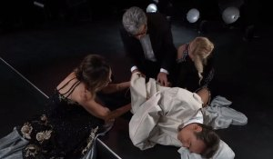 Lucy, Mac & Felicia help Kevin at the Nurses' Ball on General Hospital