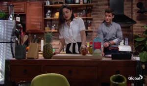 Lola and Kyle make breakfast The Young and the Restless