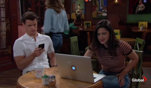 Lola and Kyle discuss apartments The Young and the Restless