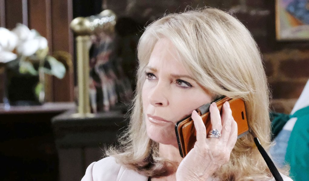 marlena on a call on days of our lives