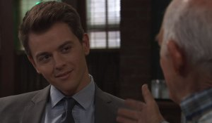 Michael happily listening to Mike on General Hospital