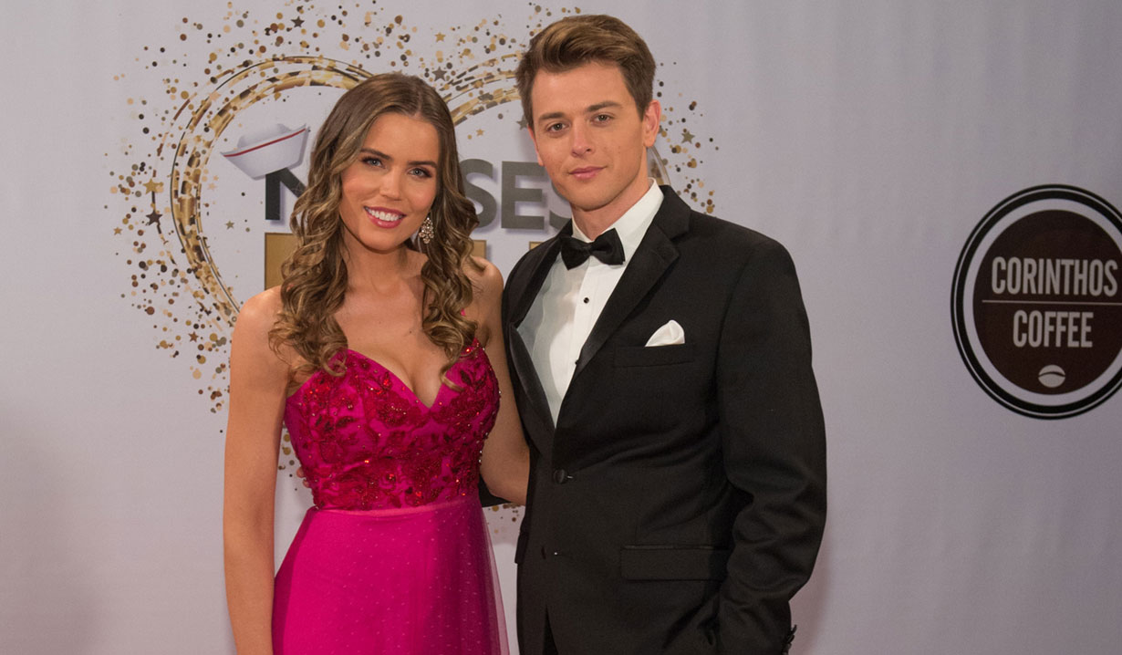 willow and michael 2019 Nurses Ball on General Hospital