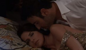 Shiloh hovers over a sleeping Sam on General Hospital