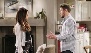 steffy and liam talk end of his marriage on bold and beautiful