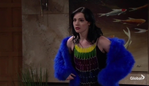 Tessa tries on an outfit The Young and the Restless