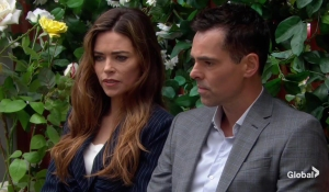 Victoria and Billy discuss Adam The Young and the Restless