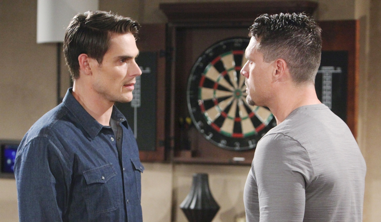 Adam and Nick argue Young and Restless
