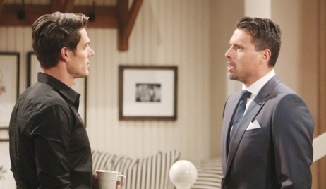 Nick threaten Adam Young and Restless