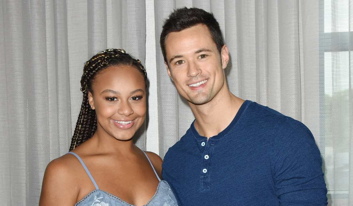 Nia Sioux Matthew Atkinson Bold and Beautiful fan event