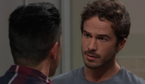 Brad and Lucas running with Wiley on General Hospital
