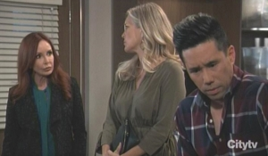 Brad questioned by Bobbie and Carly General Hospital