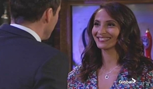 Cane and Lily chat on Young and Restless