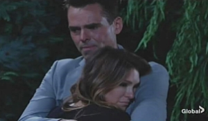 Chloe Billy embrace Young and Restless