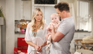 Flo watches Wyatt and Phoebe Bold and Beautiful