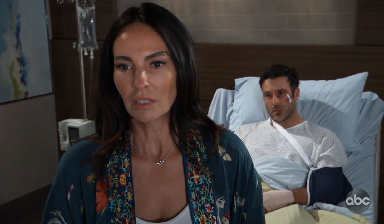 Harmony is scared on General Hospital