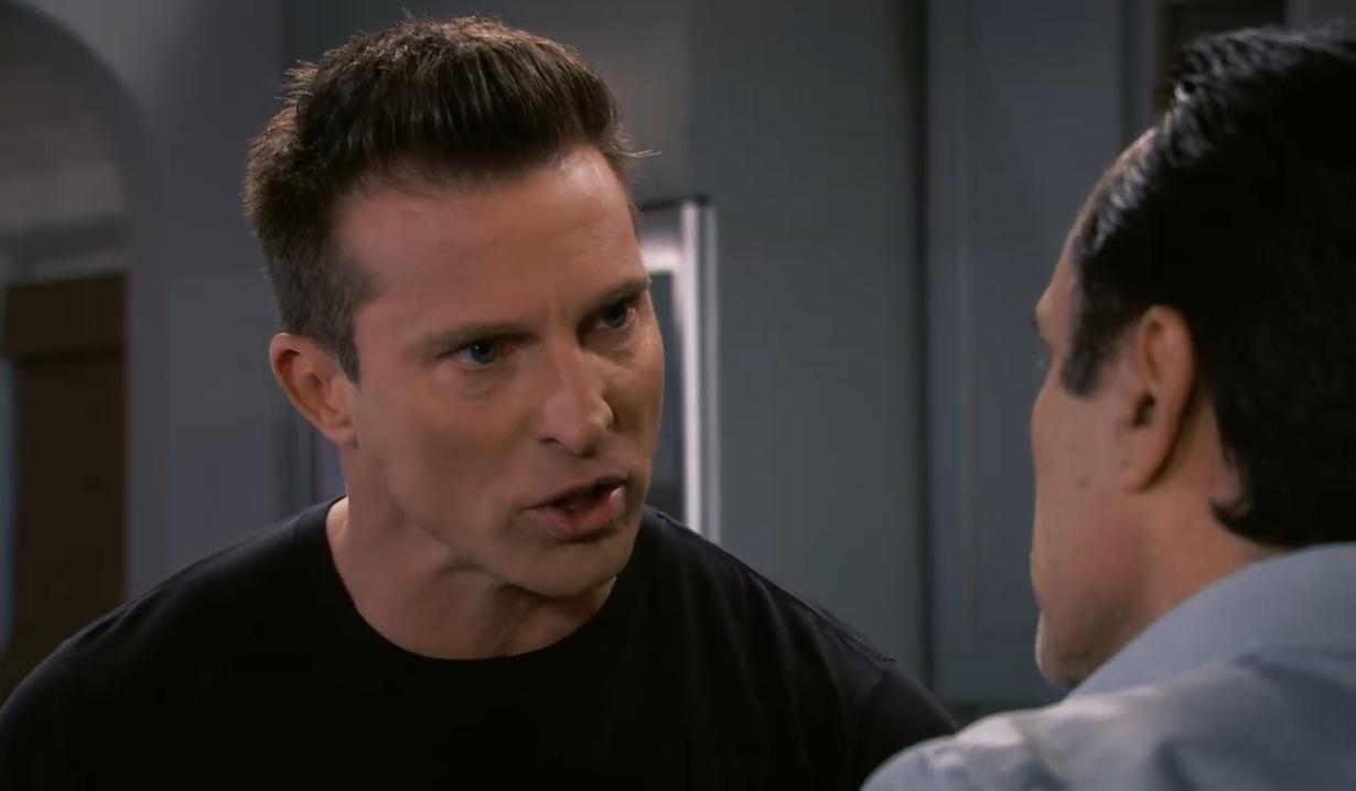 Sonny and Jason talk strategy General Hospital
