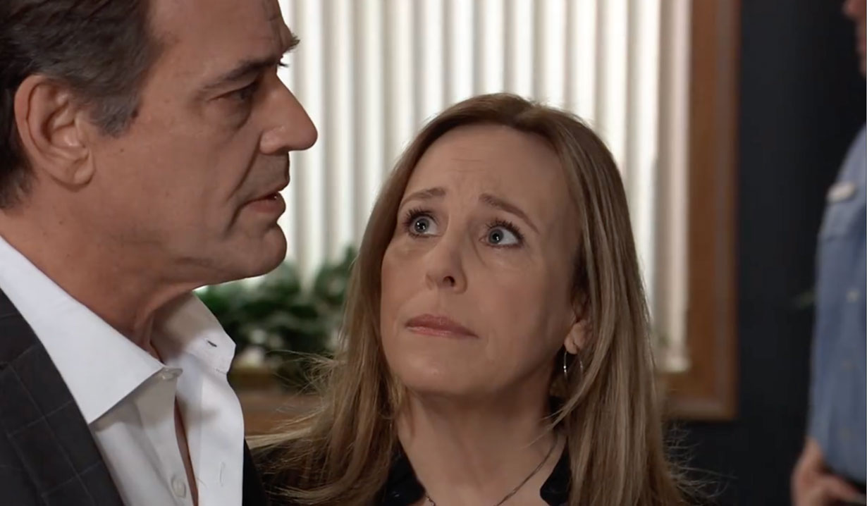 Laura and Kevin look in on Ryan on General Hospital