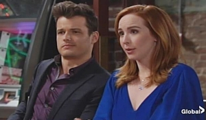 Kyle Mariah share ideas Young and Restless