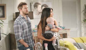 Liam and Steffy look at Thomas on Bold and Beautiful