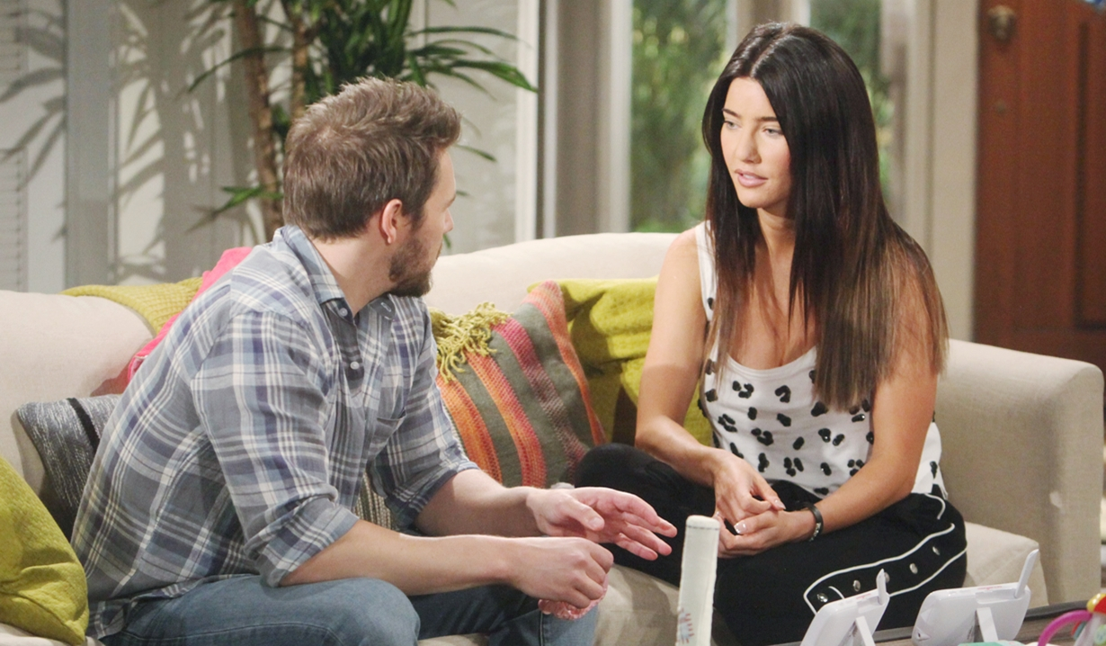 Liam and Steffy talk Bold and Beautiful