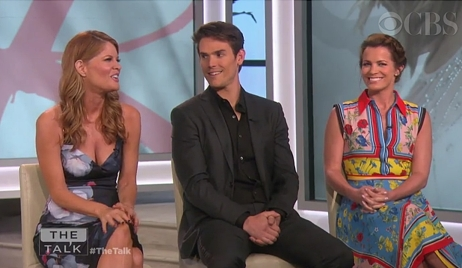 Michelle Stafford, Mark Grossman, Melissa Claire Egan on The Talk Young and Restless