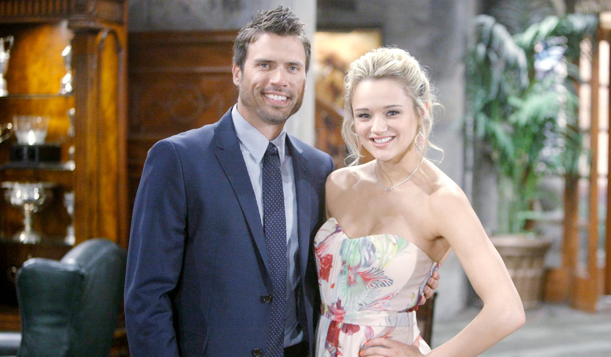 Joshua Morrow and Hunter King from Young and the Restless