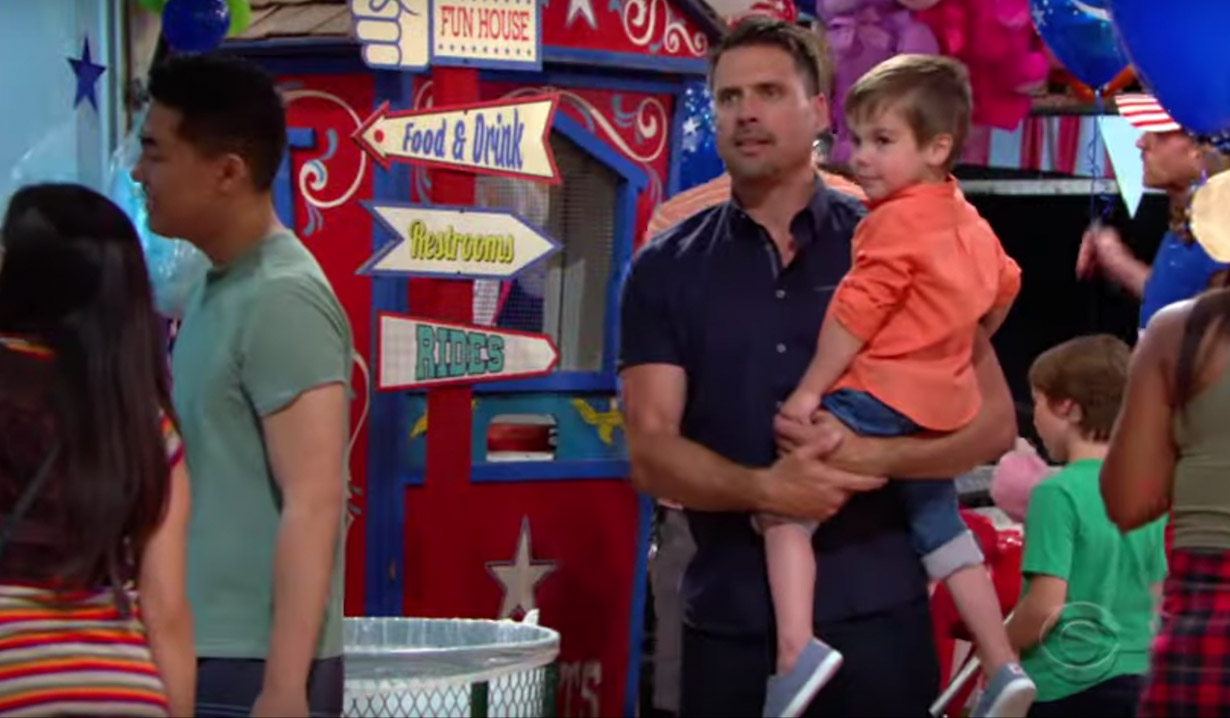 Nick and Christian at the Carnival on Young and the Restless
