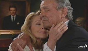 Nikki Victor embrace Young and Restless