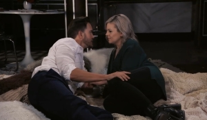 Maxie and Peter relax General Hospital