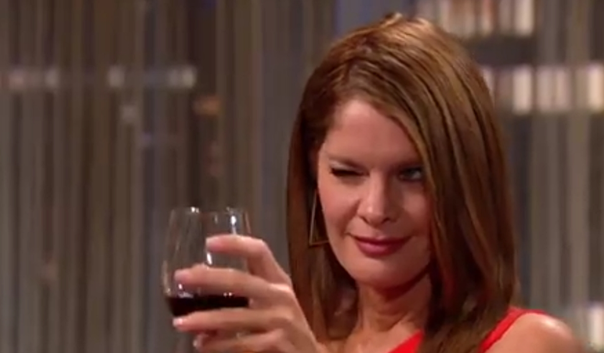 Phyllis winks at Adam on Young and Restless