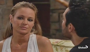 Sharon Rey argue Young and Restless