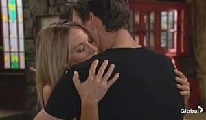 Sharon embraces Adam Young and Restless